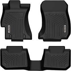 Oedro Floor Mats Liners Tpe For 2015-2019 Subaru Wrx/wrx Sti Fandr All Weather