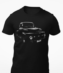 1951 Black Ford F1 Pickup Truck Short Sleeve Unisex T Shirt