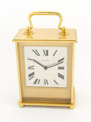 Jaegerlecoultre Table Desk Clock With 8 Days Movement Striking Function