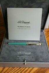 New St. Dupont 2002 Statue Of Liberty Fountain Pen Limited Edition 129/350