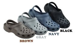 MENS SLIP ON GARDEN CLOG NON SKID WATER MULE LIGHTWEIGHT SANDALS SHOES~SIze 8-13 $7.95