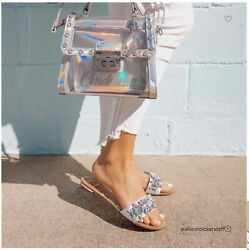Disney X Aldo Cinderella Bobbidi boo Top Handle Silver Bag NWT $70.00