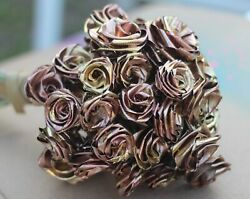 Priceless 40 Rose Bouquet of Gold and Rose Gold Abstract from #RoseManJ