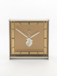 Jaeger Lecoultre Table Clock With 8 Day Baguette Inline Movement 60's