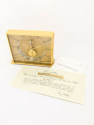Jaeger Lecoultre Table Clock With 8 Day Baguette Inline 60's