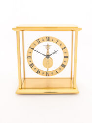 Jaeger Lecoultre Table Clock With 8 Day Baguette Inline Movement + Certificate