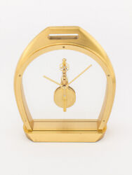 Jaeger Lecoultre Table Clock With 8 Days Inline Movement Certificate 1988