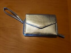Silver Clutch Wallet Wrist handle $6.64