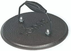 Round Cast - Iron Grill Press For Squeezing Fat And Flattening Meat