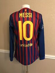Barcelona Messi Argentina Player Issue Large Sz Football Cl Jersey Soccer Shirt