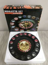 Shot Glass Roulette Drinking Game Set Wheel Casino Spinner Table Games Party New