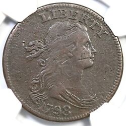 1798 S-146 R-5 Ngc Vf Details Draped Bust Large Cent Coin 1c
