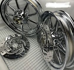 Harley 2000 Touring Wheels Street Glide 3/4 Axel Road King Rims 9 Spk Outright