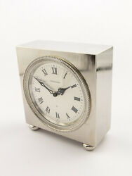Jaeger Lecoultre Table Desk Clock 8 Days Striking Function From The 1970s