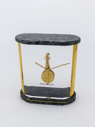 Jaegerlecoultre Prism Table Clock With 8 Day Inline Movement