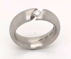 Designer Niessing Platinum Andlsquonarcissusandrsquotension Ring 0.17ct Size I1/2 From Germany