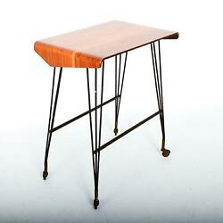 Midcentury Italy Stay At Home Tv Carrello Table, Rolling Desk Media Office