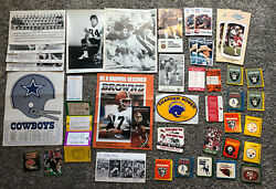 Vintage Nfl Schedules, Photos, Stickers From Various Teams- 41 Piece Lot