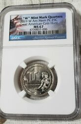 2019 W American Memorial Park Ngc Ms 67 Only One Left With Flag Holder