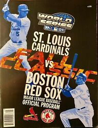 Sports Memorabilia- Collection Of Red Sox World Series Programs