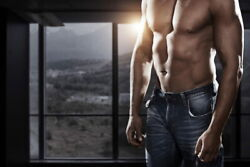 106540 Hot Muscular Man With Rock Hard Abs At Home Decor Laminated Poster Us