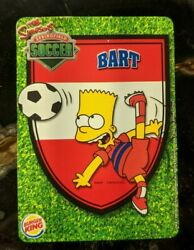 2002 Burger King - The Simpsons Springfield Soccer Trading Card - Bart Simpson