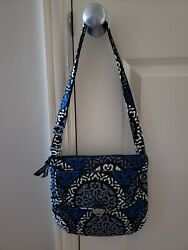 Vera Bradley Canterberry Cobalt Saddle Hipster And Zip-around Wallet 2pc Set