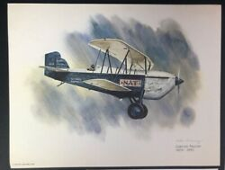 Nixon Galloway United Airlines Collector Series Curtiss Falcon 8.5 X 11