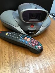 Barely Used Polycom Vsx 5000 Video Conferencing Camera Remote Control Meeting
