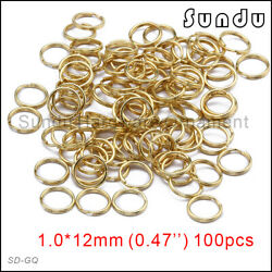 12mm Wholesale Gold Plating Color Split Key Ring Double Jump 100 To 10000pcs