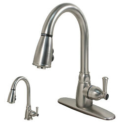 Rv Mobile Home Camper Kitchen Faucet With Pull-down Sprayer Stainless Steel