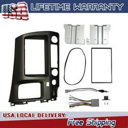 For Honda Civic 06-11 Black Radio Stereo Dash Kit W/ Wiring Harness Double 2 Din