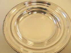 Beaded Edge Silver Plated Bowl 7 1/4 X 1 1/2 Good Conditon Towle 6665