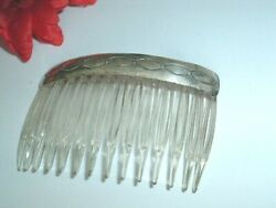Vintage Slide Hair Comb of Sterling Silver and Clear Lucite in Gift Box $38.00