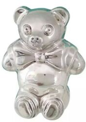 And Co. Sterling Silver Teddy Bear Baby Rattle + Box Pouch 1994 Nos New