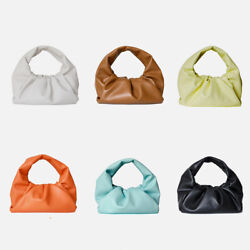 Mini Small Real Leather Ruched Shoulder Pouch Tote Bag Hobo Clutch Purse Summer $79.00