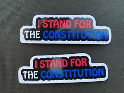 2 I Stand for the Constitution stickers decal America 3.75quot; Patriot America