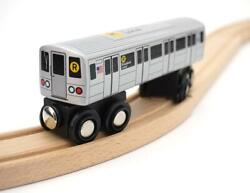 Munipals Mp01-110r Wooden Subway R Train Nyc Mta - Broadway Local