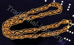 Fabulous 22k Yellow Gold Top Class 20 Link Chain Gorgeous Necklace Jewelry