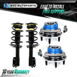 2x Front Strut + 2x Front Wheel Hub Bearing For 1998-2011 Chevy Impala Intrigue