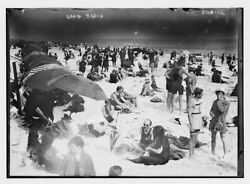 Long Beach, New York, 1912, Day At The Beach, Photo Reproduction