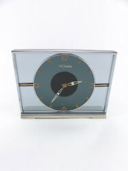Lecoultre Table Clock With 8 Day Movement Art Deco Made In The 1940s.