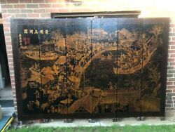 Antique 6 Door Chinese Screen Divider H2.15m X L 3mvery Heavy