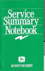 Vintage 1989 John Deere Go With The Green Service Summary Notebook New Nos