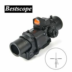 Tactical 1x-4x Fixed Dual Purpose Scope With Mini Red Dot Scope Red Dot Sight