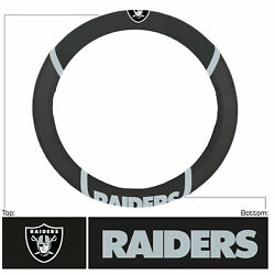 Nfl -raiders Steering Wheel Cover With Embroidered Logos