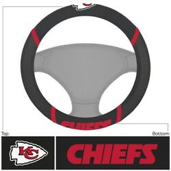Football Kansas City Chiefs Embroidered Mesh Steering Wheel Cover 14.5-15.5