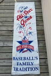 Authentic Vintage 1985 Mlb All Star Game Banner Hanging 26 X 82 Double Sided