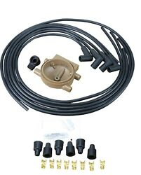 New Plug Wires Cap Rotor Set For Ford 4 Cylinder Front Mount Tractors 2n 8n 9n