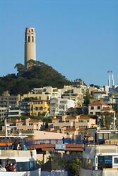 106145 Coit Tower In San Francisco Photo Art Decor Laminated Poster Ca